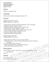 Teaching Resume Templates Resume And Cover Letter Resume And