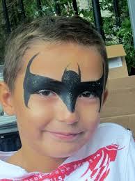 simple bat man face paint