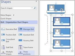 Visio Org Chart Shapes Without Pictures Creating Three And Multiple Position Smartshapes