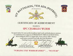 28 Certificate Of Achievement Army Template Collection Of Solutions