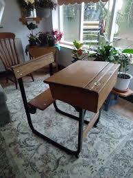 amusing used school desks vintage school desk and chair wooden and metal desk chair pots plant