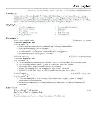 Accounts Payable Resume Sample Best of Account Clerk Resume Accounting Clerk Resume Accounting Clerk Resume