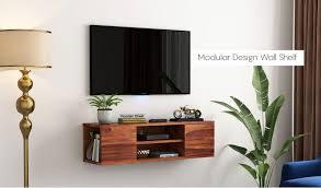 cubis wall mount tv unit honey finish