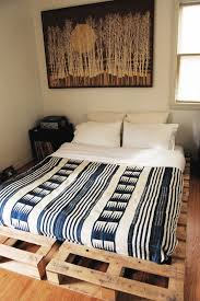 Good Looking Bedroom Decoration Using Shipping Pallet Bed Frame :  Delectable Bedroom Decoration Using Rustic Shipping
