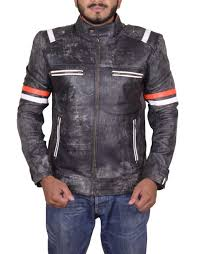 mens biker vintage motorcycle cafe racer retro 2