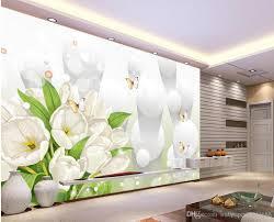 Großhandel Zuhause Schlafzimmer Dekoration White Tulip Bouquet 3d