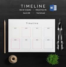 Blank Timeline Template – 40+ Free Psd, Word, Pot, Pdf Documents ...