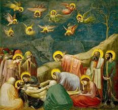 mourning of christ fresco by giotto di bondone from the capella dell arena padua c 1307 each angel is within its own giornata