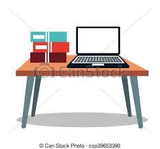computer desk clipart. Exellent Computer Laptop Computer Table Books Icon  Csp39653390 Inside Computer Desk Clipart 2
