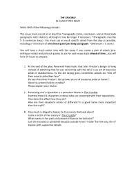 the crucible essay topics doc english the crucible in class essay topics tj