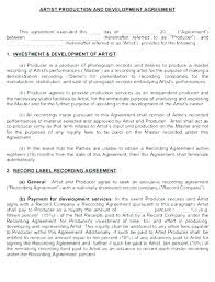 Music Contract Music Distribution Contract Template