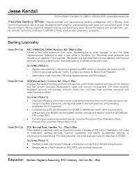 Back Office Resume In Banks Sales Banking Lewesmr