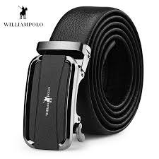 williampolo men belt 2019 soft cowhide genuine leather belts for men luxury automatic buckle belt pl18188p