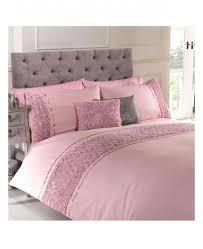 limoges rose ruffle blush pink super king duvet cover bedding set