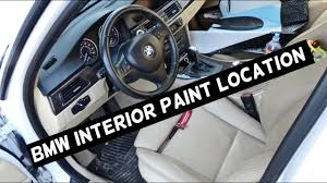 where is the interior paint code on bmw