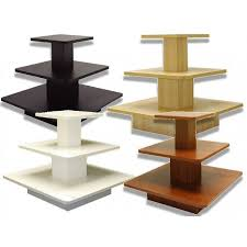 Tiered Display Stands Stamps Store Fixtures 100 TIER SQUARE DISPLAY TABLE 67