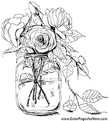 Coloring Page Flowers Flowers Coloring Pages Flower Coloring Pages