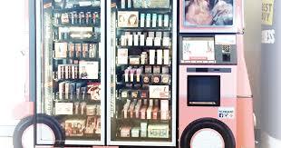 Benefit Vending Machine Mesmerizing Futuristic Branding Benefit Cosmetics Vending Machine The Beetique