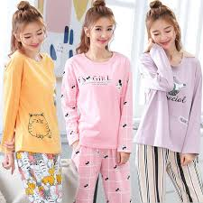 2019 New <b>Spring Autumn</b> Women <b>Pajamas Set Spring</b> Cute Winter ...