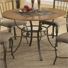get ations coaster round dining table with metal legs and wood top in oak