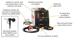 shipping hobart handler 210mvp flux core mig welder features benefits