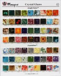 Mayco Jungle Gems Color Chart Mayco Crystal Jungle Gem Chip Board In 2019 Glazed Tiles