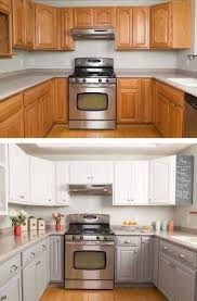 White painted kitchen cabinets Chalk Kitchen Cabinets Before And After Pinterest How To Paint Kitchen Cabinets In Easy Steps Kitchen Kitchen