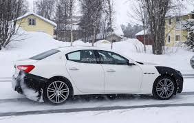 2018 Maserati Ghibli Spied in Sweden, Angry-Look Prototype Hides ...