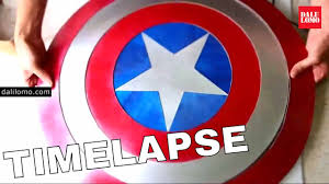 Timelapse - <b>Shield</b> of <b>Captain America</b> (2014 DIY <b>Cosplay</b>) - YouTube