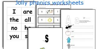 Each sheet provides activities for letter sound learning, letter formation, blending and segmenting. Jolly Phonics Worksheets