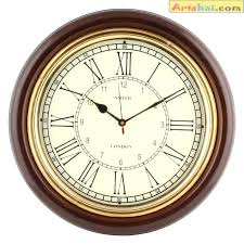 wall clock antique look inch wood and brass silent wall clock best antique wall clock wall clock