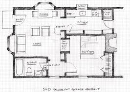 Small Apartment Floor Plans One Bedroom Small Scale Homes Floor Plans For Garage To Apartment Conversion