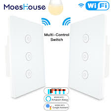 Control Lights Using Google Home Us 23 99 40 Off 3 Way 3 Gang Wifi Smart Multi Control Light Switch Work With Alexa Google Home No Hub Required Smart Life App Remote Control In