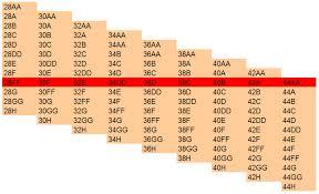 28a Bra Size Chart Punctual 34h Bra Size Chart 2019
