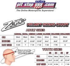 Racequip Helmet Size Chart Sizing Chart Zamp Auto Racing Helmets
