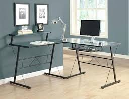 glass computer desk most appropriate with shelves table chair vista l shaped