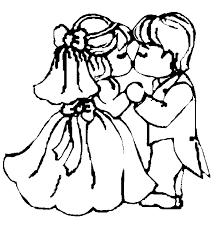 Huwelijk Kleurplaat