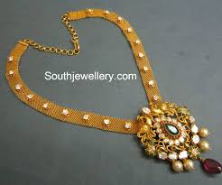 Broad Chain Designs Mesh Chain With Pendant Jewelry Pendant Jewelry Gold