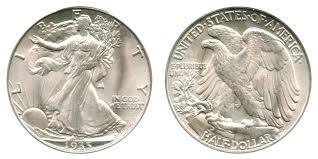 1935 Silver Half Dollar Value Chart 1935 D Walking Liberty Half Dollar Coin Value Prices Photos