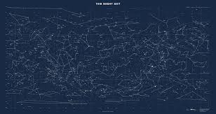 Night Sky Chart Sky Chart Map Of Stars And Constellations