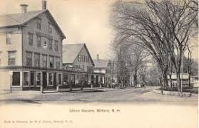 ord new hshire union square street scene antique postcard k32692