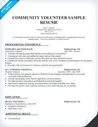 Sample Resume With Gaps In Employment Community Volunteer Samples Gorgeous Employment Gaps On Resume