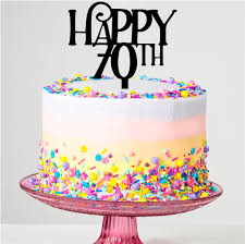 Happy 70th Birthday Cake Topper Prettyparties