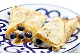 Blueberry crepe filling