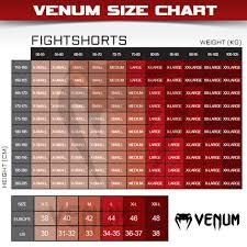 Venum Shorts Size Chart Venum Gladiator Fightshorts Black White