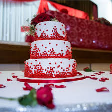 1000 Images About Red Wedding Cakes On Pinterest Red Wedding Cakes