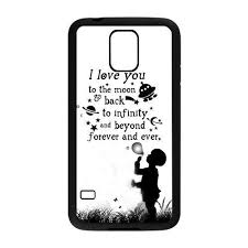 Samsung Quote Awesome Amazon Generic Love Quote I Love You To The Moon And Back