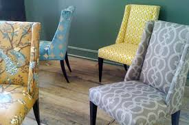 could recover all of my parsons chairs in diffe yet cohesive funky upholstered dining chairs