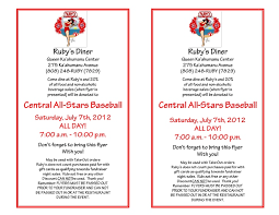 Central All Stars Baseball Fundraiser Flyer