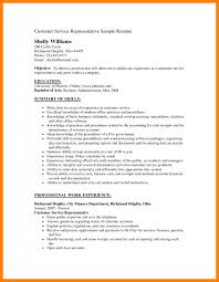 Customer Services Resume Objective 100 resume objective for customer service appeal leter 91